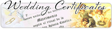 spanish wedding certificate