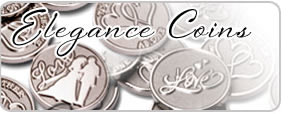 elegant wedding coins