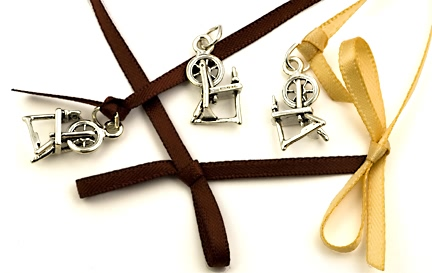 sterling silver spinning wheel charms
