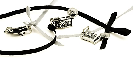 sterling silver Camera charms