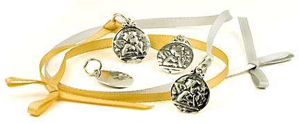 sterling silver Guardian angel charms