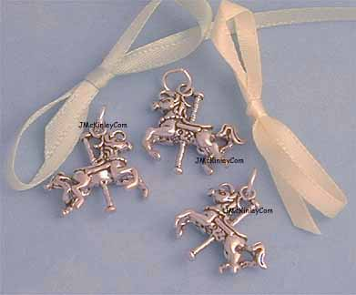 sterling silver carousel horse charms