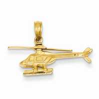 14k Gold Helicopter Pendants