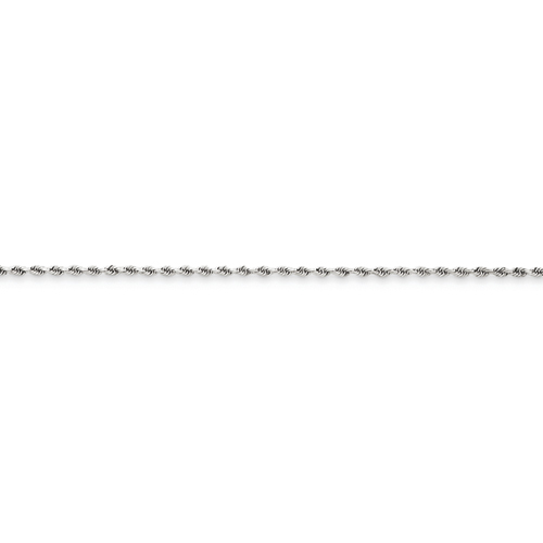 clearance item 14k white gold diamond-cut rope chain 15mm 18 inch