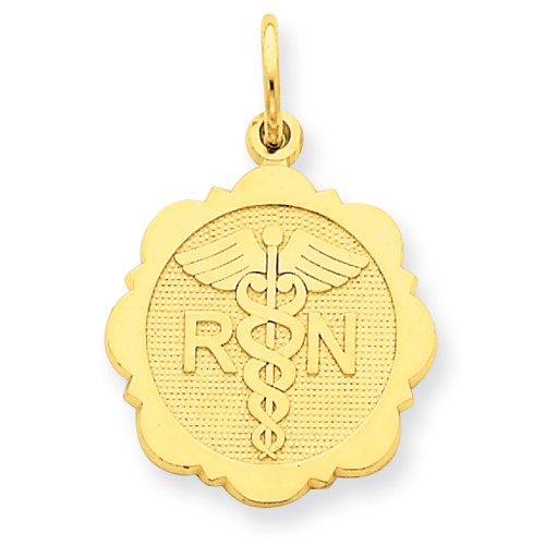 clearance item 14k gold RN Nurse pendant