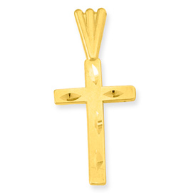 Please disregard old prices from our 2004 catalog 14K Gold diamond cut Crosses