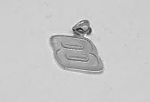 clearance item 14k white gold Nascar number charm 8 dale earnhart