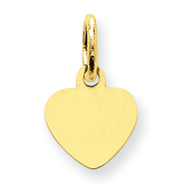 clearance item 14k gold tiny heart charm