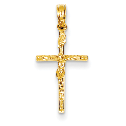 clearance item 14k gold crucifix