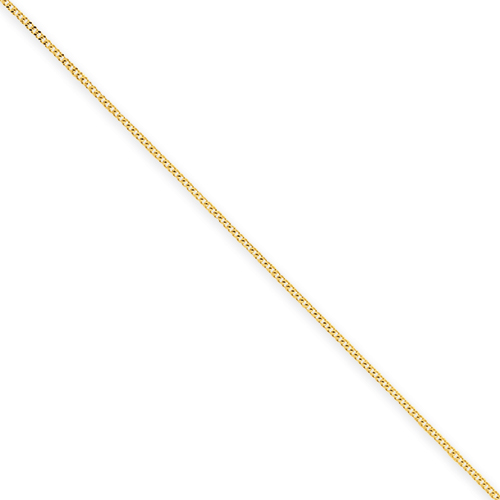 clearance item 14k gold 9mm curb chain 20 inch
