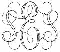 interlocking monogram engraving