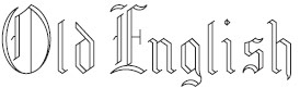 Old English Font Engraving Examples