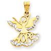 14k gold angels charms