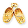 14k gold baby shoes charms