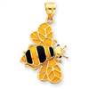 14k gold bee charms