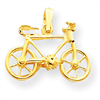 14k gold bicycles charms