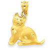 14k gold cats charms