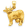 14k gold cow charms