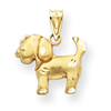 14k gold dogs charms
