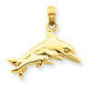 14k gold dolphins charms