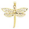 14k gold dragonfly charms