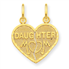 14k gold family charms