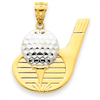 14k gold golf charms