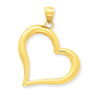 14k gold hearts charms