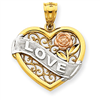 14k gold love charms