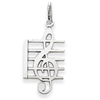 14k gold music charms