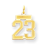 14k gold numbers charms