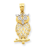 14k gold owl charms