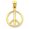 14k gold peace sign charms