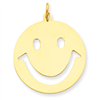 14k gold smiley face charms