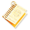 14k gold travel charms