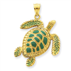 14k gold turtle charms