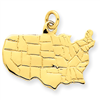 14k gold united states monuments charms