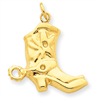 14k gold western charms