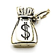 money bag wedding cake charms