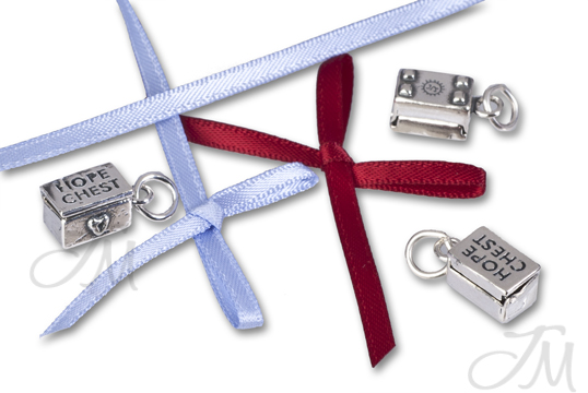 sterling silver hope chest charm