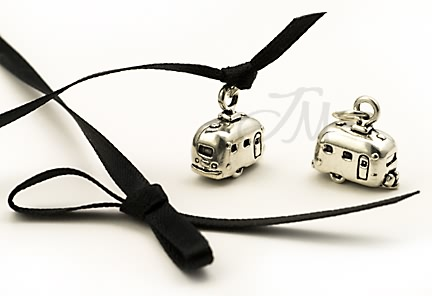 sterling silver Travel trailer charm