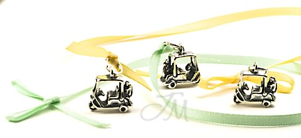 sterling silver Golf cart charm