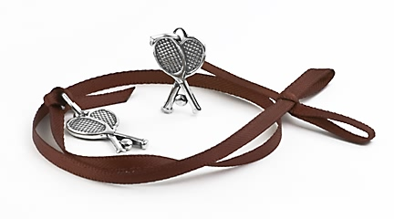 sterling silver Tennis racquet charm